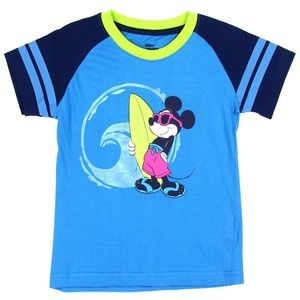 🎁Disney Mickey Mouse Surfer Blue Kids Graphic Tee